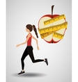 lose weight design vector image