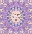 Mandala Birthday Card vector image vector image