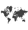 map of the world - mercator projection vector image