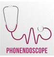 medical phonendoscope isolated medical vector image