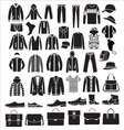 Mens fashion Clothes and accessories vector image vector image