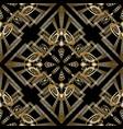 modern creative geometric greek key meander vector image vector image
