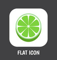 of berry symbol on lime flat vector image