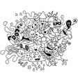 party doodle line art vector image