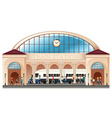 People at train station vector image vector image