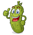 pickle cartoon character giving a thumbs up vector image