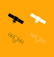 satellite set black and white icon vector image vector image