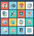 science and technology flat icons set vector image