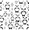 seamless pattern Panda bear vector image vector image