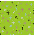 Seamless stars pattern with colorful doodles on a vector image vector image