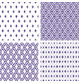 set of seamless rhombus ultra violet backgrounds vector image vector image