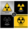 set radiation warning symbols vector image vector image