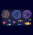 shine fireworks glow splashes realistic fire vector image vector image