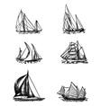 ships vector image vector image