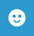 smile icon white on the blue background vector image