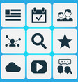 social icons set with friends dialog vector image vector image