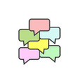 speech bubble icon on white isolated background vector image vector image