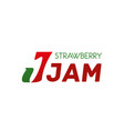 strawberry jam label vector image