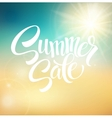 Summer Sale blurred background vector image vector image