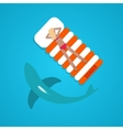 tanned girl shark flat vector image vector image