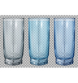 Three transparent glass vector image vector image