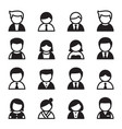 user icon set vector image vector image