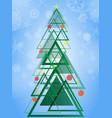 abstract geometric green christmas tree triangle vector image