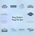 Christmas and New year calligraphy set vector image