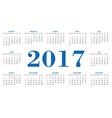 Simple calendar 2017 template vector image