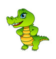 cartoon crocodile isolated vector image