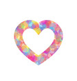 colorful heart outline of vector image