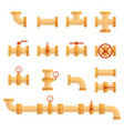 pipe icon set icons vector image
