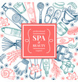 spa salon background pictures different natural vector image