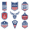 set of veterans day emblems usa culture vector image