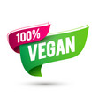 100 percent vegan flag icon vector image vector image
