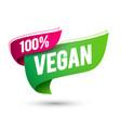 100 percent vegan flag icon vector image