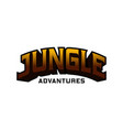 3d jungle adventure writing vector image