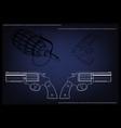 3d model of a pistol vector image vector image