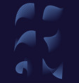 abstract 3d shapes on blue background for printed vector image vector image