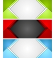 Abstract corporate material banners design vector image vector image