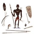 african aboriginal hunter vector image
