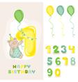 babear birthday card vector image vector image