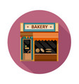backery front view flat icon vector image vector image