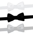 Bow tie set vector image vector image