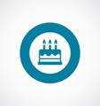 cake icon bold blue circle border vector image vector image