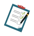 checklist on clipboard icon image vector image vector image