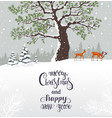 christmas winter card vector image vector image
