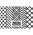 collection of textile seamless patterns - stylish vector image