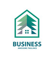 creative and simple pine house logo vector image