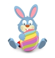 Easter card with rabbit and eggs vector image vector image